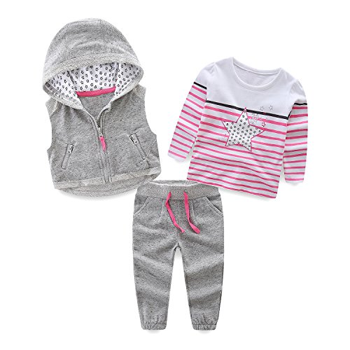 Mud Kingdom Girls Outfits Gray Jogger Pants Sports Clothes Sets Size 7 8 by Mud Kingdom