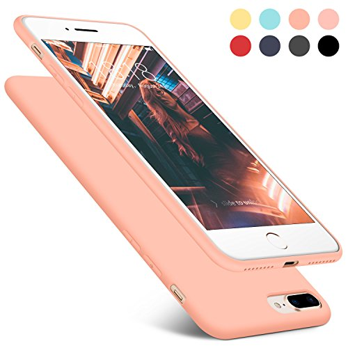 Iphone 7 Plus   8 Plus Case  Dtto  Romance Series  Liquid Silicone Gel Rubber Anti Scratch Shockproof 5  5 Inch Iphone Case For Apple Iphone 7 Plus 8 Plus With Honeycomb Grid Pattern  Rose Gold