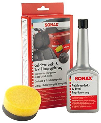 SONAX 310100 Cabrioverdeck- & TextilImprä gnierung, 250ml, inkl. ApplikationsSchwamm 310 100