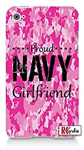 The Best Camo Pink Proud Navy Military Girlfriend Camouflage Direct UV Printed Apple ipod 5 Ipod 5g Quality Hard Case Snap On Skin for ipod Gen 5 and 5, 5G (WHITE CASE)