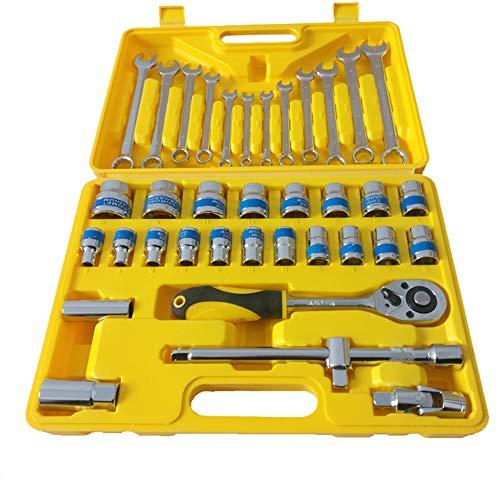 Llave De Zócalo Herramientas De, Hardware Manual Conjunto De Reparación Caja de herramientas para coche y para...