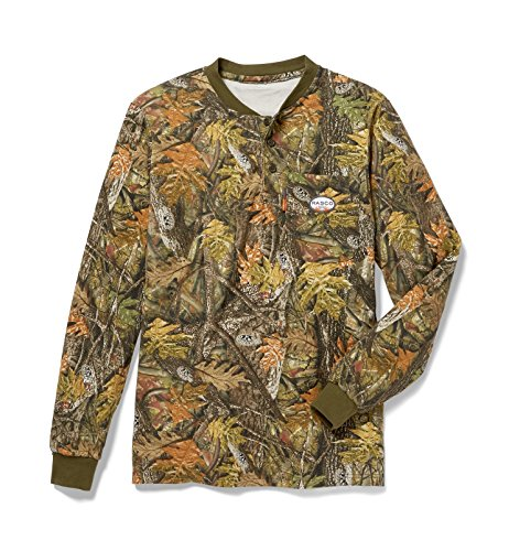 - Rasco FR Men's Woodland Camo Henley T-Shirt
