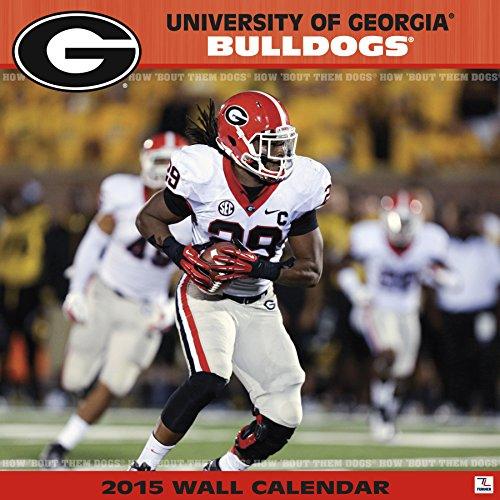 Turner Perfect Timing 2015 Georgia Bulldogs Team Wall Calendar, 12 x 12 Inches (8011588)