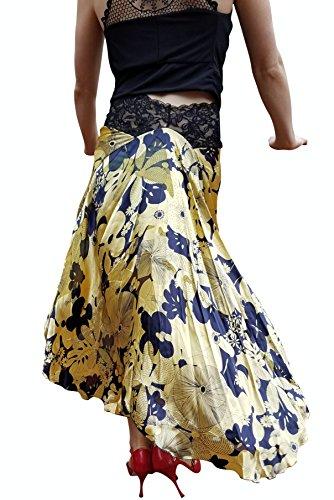 tango skirt Argentine tango silk by Bailemosdancewear