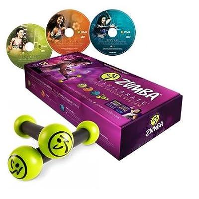Zumba Fitness Exhilarate Body Shaping System DVD Set + Toning Sticks
