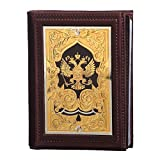 Passport Organizer Wallet Handmade Leather''Russia Gold-Domed''