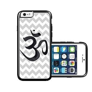 RCGrafix Brand Grey Chevron Ohm Yoga iPhone 6 Case - Fits NEW Apple iPhone 6