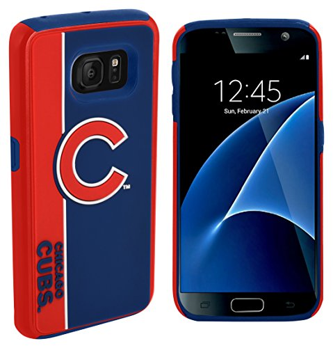 Forever Collectibles Dual Hybrid BOLD Series Case for Samsung Galaxy S7 - MLB Chicago Cubs (Chicago Cubs Collectibles)