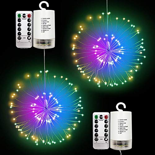 Outdoor LED Hanging String Light, Adpartner 2 Pack Latest Starburst Fairy Lights Waterproof 120 LEDs Twig Light for Christmas Seasonal...
