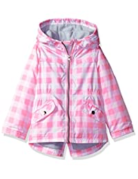 Carter's baby-girls Infant and Toddler Girls' Zip Front Printed Hooded Anorak