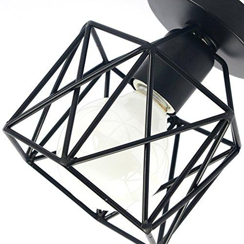 Marsbros Metal Retro Ceiling Light Industrial Flush Mount