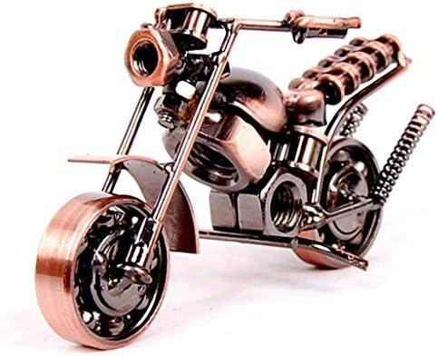 手作りのオートバイの家の装飾の装飾品のリビングルームの装飾創造的な工芸品の装飾品、ギフト (Color : Brass, Size : 14*7*8cm)