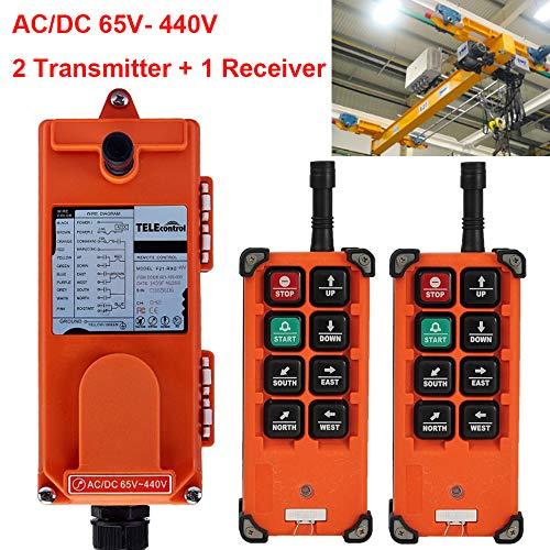 Radio F21 - Industrial Radio Remote Control Winch Hoist Crane 8 Function 2 Transmitters + 1 Receiver F21-E1B AC/DC 65V-440V