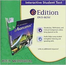 Buy Avancemos Level 1b Grades 6 8 Holt Mcdougal Avancemos Ml