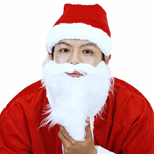 Patymo -- Santa Claus Costume Accessories -- Polyester Mustache & Beard