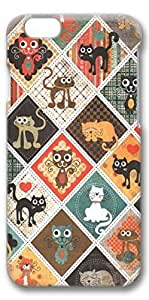 iPhone 6 Case, Custom Design Protective Covers for iPhone 6(4.7 inch) PC 3D Case - Cats