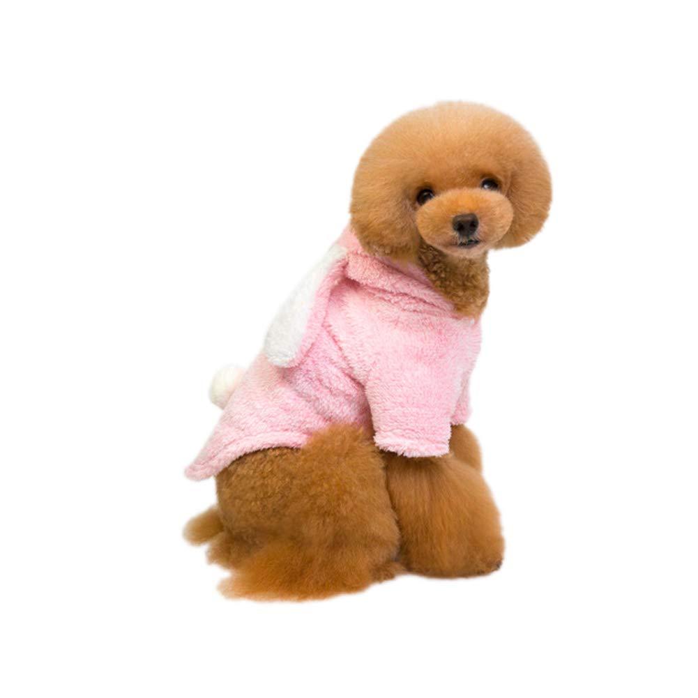 XXL Delifur Dog Easter Bunny Dog Rabbit Costume Dog Rabbit Hoodies Dog Rabbit Sweatshirt Pet Cold Weather Clothes for Small Dog Like Teddy (XXL)