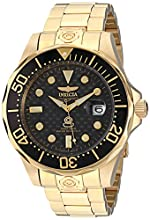 """Invicta Men's 10642 """"Pro Diver"""" 18k Gold Ion-Plated Automatic Dive Watch"""