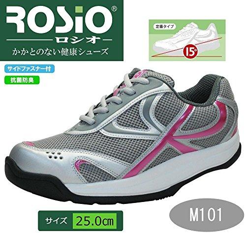 南合意権限を与えるROSIO ロシオ かかとのない健康シューズ M101 メタルピンク 25.0cm