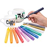 Bianyo Acrylic Paint Marker Pens- Fine Tip Art Liquid Highlighters Set for Rocking Painting, Drawing, Coloring on Wood, Stones, Fabric, Glass, Ceramics,12 Colors