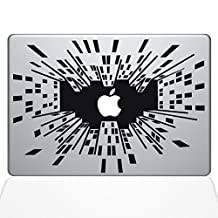 Looking Up in the Big City Removable Vinyl Decal Sticker Skin for Apple Macbook Pro 13 inch (New 2016 model) Laptop in Black