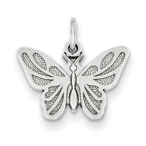 Icecarats Créatrice De Bijoux 14K Pendentif Papillon En Or Blanc