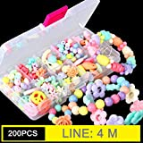 Liobaba DIY Acrylic Bead Kit with 10 Grids Plastic Box Handmade Jewelry Beads Set Necklaces Bracelet Making for Children