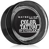 Maybelline New York Eyestudio ColorTattoo Leather 24HR Cream Gel Eye Shadow, Dramatic Black, 0.14 oz