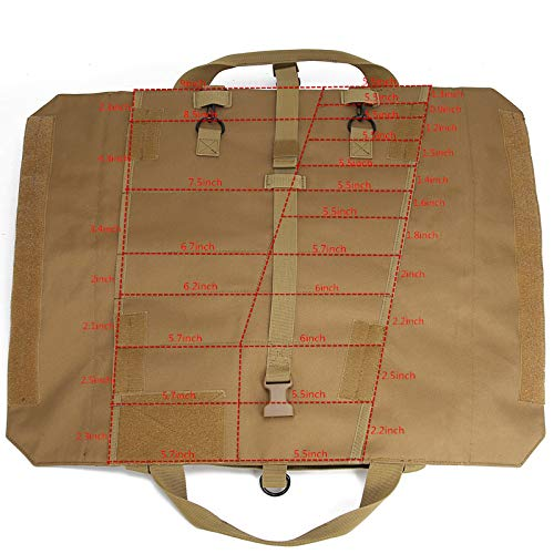 Wrench Roll Up Pouch Tools Organizer Bag Super Storage with 23 pockets (Tan) by Garry Tactical (Image #2)