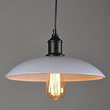 Grande de metal cubierta Loft Hierro retro Industrial DIY lámpara de techo colgante de iluminación de la luz blanca del bulbo Inicio