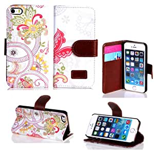 Leather case for iphone 4 4S,Kaseberry Wallet Leather Carrying Case Cover forCredit ID Card Slots/ Money Pockets For iPhone 4 4S