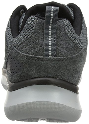 Skechers Herren QuantumFlexCountry Walker Sneaker Grau Charcoal/Black