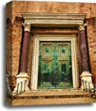 barewalls Ancient Door Gallery Wrapped Canvas Art (20in. x 16in.)