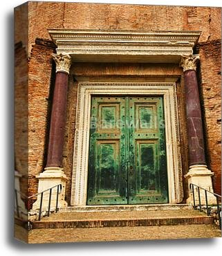 barewalls Ancient Door Gallery Wrapped Canvas Art (20in. x 16in.) by barewalls