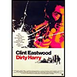 Dirty Harry Fridge Magnet Clint Eastwood as Harry Callahan Movie Poster Canvas Print 6 x 8