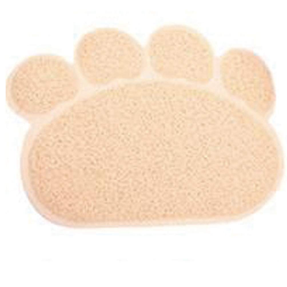2 M 2 M Jim Hugh Cute Paw PVC Pet Dog Cat Feeding Mat Pad Pet Dish Bowl Food Water Feed Placemat Puppy Bed Blanket Table Mat Easy Wipe Cleaning