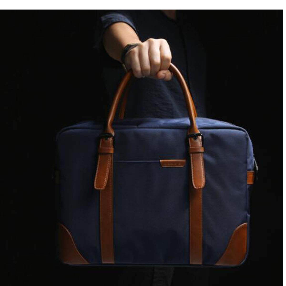 Size: 38927cm Concise Business Travel Bag Color : Blue Chenjinxiang Briefcase 14-inch Computer Bag