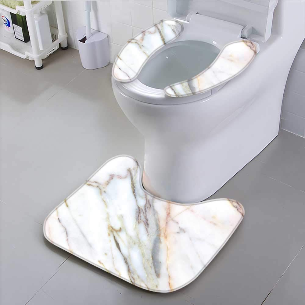 Jiahonghome Use The Toilet seat Marble Texture Background Builds Walls Marble countertops Non-Slip
