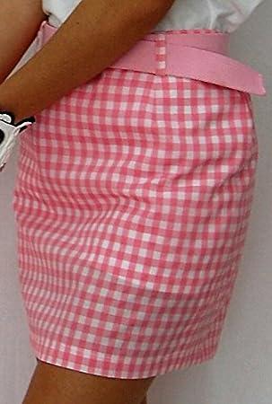 Falda de Golf Cuadros Vichy (Vichy Rosa, 38): Amazon.es: Deportes ...