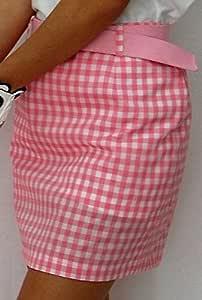 Falda de Golf Cuadros Vichy (Vichy Rosa, 40): Amazon.es: Deportes ...