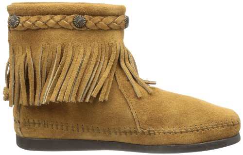 Minnetonka Womens 299 Back-zip Boot Taupe Suede