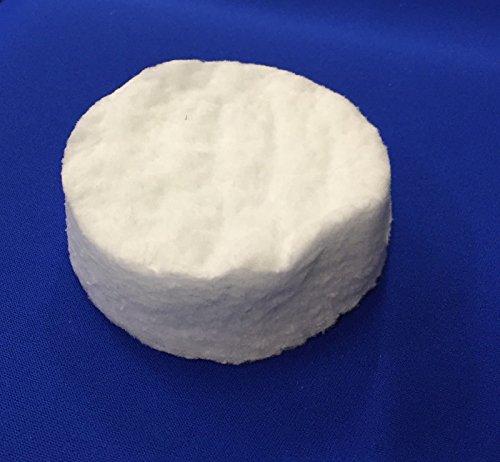 Keramikschwämme verschiedene Größen Keramische Wolle Keramik Wolle für Ethanol Bio-Ethanol Gelkamin Brennkammer Bioethanolkamin (8,6 x 2,5 cm rund)