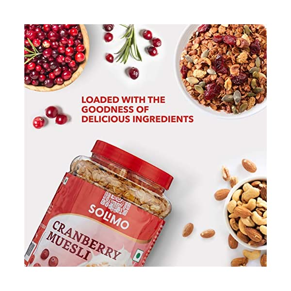Amazon brand - Solimo Cranberry Muesli, 1kg 3 51Ng8O8oAKL
