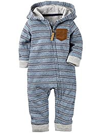 Carter's Baby Boys' Hooded/Eared Romper (Baby)