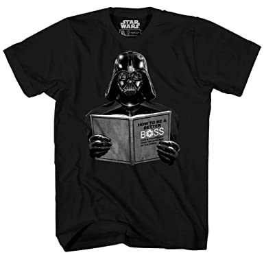 5452a575863 Amazon.com  Star Wars Darth Vader Dark Side Empire Funny Humor Pun Adult  Men s Graphic Tee T-Shirt  Clothing