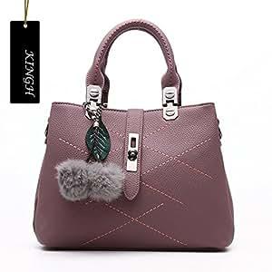 Women Handbag,Women Bag, KINGH Zip Closure Tote Vintage Shoulder Bag PU Leather 116 Deep Red