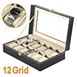 12 Watch Display Box Case Faux Leather Bild