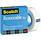 Scotch® Removable Tape 811, 3/4-inch x 2592 Inches, Boxed