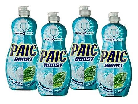 Paic Boost Líquido vajilla bicarbonato/Menta 500 ml - juego de 4 ...
