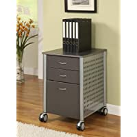 Innovex Archive Series Filing Cabinet, Granite Black